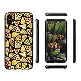 Hülle für AppleiPhoneX(5,8pouces) ,JIENI Transparent viel Essen Pizza TPU Weich Silikon Handyhülle Schutzhülle Stoßkasten Case Bumper Slimcase Etui Tasche für AppleiPhoneX(5,8pouces)