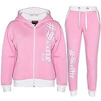 A2Z 4 Kids® Kinderen Jongens Meisjes Trainingspak Baby Roze Ontwerper - T.S Selfie 002 Baby Pink.7-8