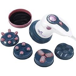 Massage amincissant , Vibrations infrarouges anti-cellulite Machine de brûlage de graisse électrique Massage du dos et des épaules, épaules, pieds, jambes, Body Office, maison et voiture(rouge)