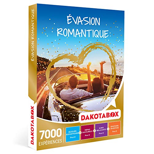 DAKOTABOX - Évasion romantique - Coffret Cadeau Multi-thèmes - 1 séjour ou 1...