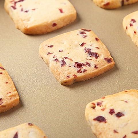 Tres pueden albergar hornear galletas Connaught hornear el pastel de molde de pizza horno de oro se pega UN10006 herramienta cuadrada