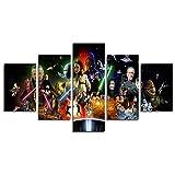 YspgArt66 Print Canvas, 5-Teilig Star Wars Film Leinwand Art Wand Gemälde für Home Wohnzimmer Büro Trendig eingerichtet Dekoration Geschenk (ungerahmt)