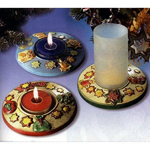 Giessform Kerzenhalter Weihnachten 2 Motive