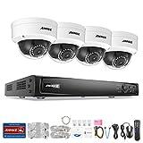 ANNKE POE Videoüberwachung Set, 4CH 6MP POE NVR, Netzwerk Video Recorder + 4 * 1080P IP Überwachungsskameras ohne Festplatte, POE Plug und Play, Bewegungserkennung mit E-Mail Alarm