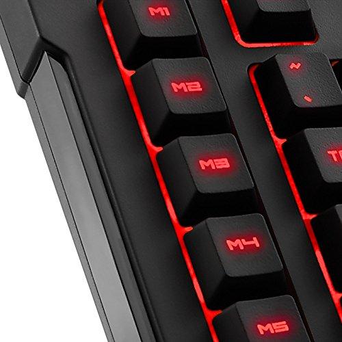 Sharkoon Skiller Pro Plus beleuchtete Gaming Tastatur (Onboard-Speicher, Multi-Key-Rollover-Unterstützung) schwarz - 3