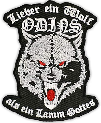 Aufnäher Aufbügler Lieber EIN Wolf Odins als EIN Lamm Gottes