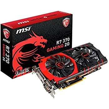 MSI V305-029R - Tarjeta gráfica (PCI-E R7 370 Gaming 2048 MB DDR5, DVI/HDMI)