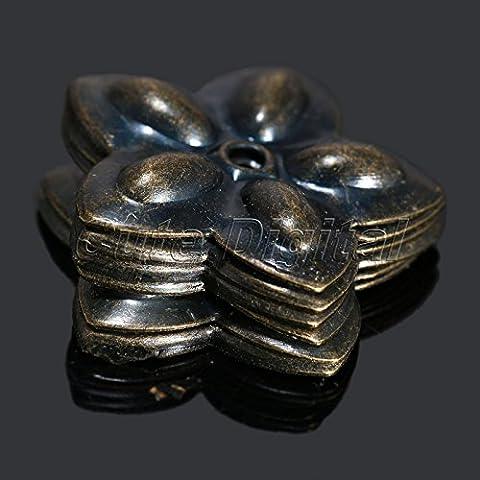 Tocoss(TM) 22x23mm 100pcs Weinlese-Bronze Hardware N?gel M?bel Dekorative Polster Tacks Studs Dekorative N?gel f¨¹r Holz-Schmuck-Box