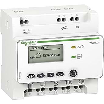 Wiser Link Concentrateur de TC modulaire + 5 TC Schneider Electric EER39000
