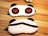 #4: Super Soft & Comfortable For Proper Sleep ~ Lovely Heart Panda Sleeping Eye Mask ~ Nap Eye Shade Cartoon Blindfold Eyes Cover Sleeping Travel Rest Patch Blinder Relax , Complete black-out Design, snooze , slumber , hibernate