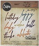 Lo 660.215 Thinlits strumento Set Sizzix per il disegno, 7 camere, Celebrazione Tim Holtz manoscritte hobbistica e bricolage