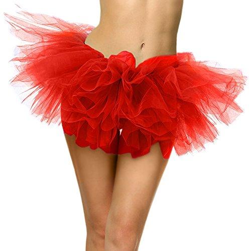 SRANDER Damen Tüllrock Tütü Tutu Petticoat 5 Schicht Ballet Tutu Tanz Röcke (Tutus Frauen)