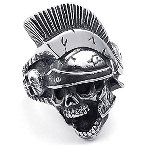 Bishilin Stainless Steel Fashion Mens Rings Punk Gothic Knight Helmet