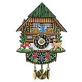Tubayia Orologio da Parete 3D in Legno, Stile Vintage, con cucù, per casa, caffè, Decorazione per la cameretta dei Bambini, a