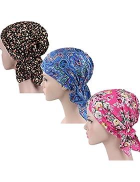 ZYCC Sombrero unisex de la bufanda de la cabeza Bandana algodón impreso Turbante Headwear para el cáncer, la quimioterapia...