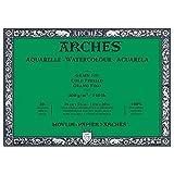 Archi 36x 51cm 300gsm Carta per acquerelli, incollata su 4lati Block Pressato A Freddo, Bianco Naturale (Confezione da 20fogli)