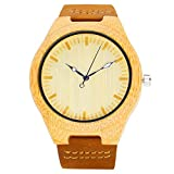 51ohHDYilOL. SL160  - BEST BUY #1 iBigboy Mens Wooden Watch with Leather Strap Quartz with Quality Miyota 2036 Movement Reviews and price compare uk