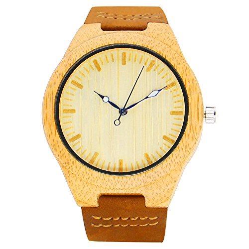 51ohHDYilOL - BEST BUY #1 iBigboy Mens Wooden Watch with Leather Strap Quartz with Quality Miyota 2036 Movement Reviews and price compare uk