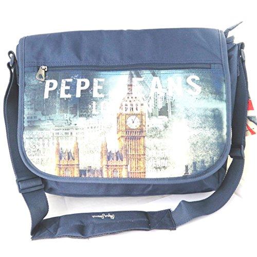 Pepe Jeans [M7873] - Sac bandoulière 'Pepe Jeans' marine - London (format ordinateur)