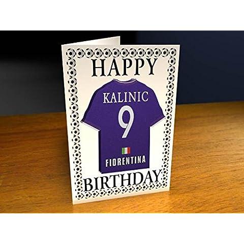 Serie A Italia–Italiano equipo de fútbol camisa imán Tarjetas de cumpleaños–personalización gratuita–cualquier nombre, cualquier número, cualquier colores.