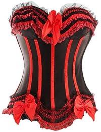 E-Girl Eleant bowknot Décor corset bustier,rouge
