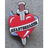 hotrodspirit-Pin S corazón y espada Rockabilly Heartbreaker Pin Up Tattoo