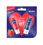 #1: Nivea Lip Care, Strawberry, 4.8g with Lip Care Essential, 4.8g