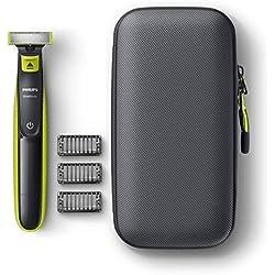 Philips Oneblade-Pack de tondeuse style et rasage, - Batterie rechargeable QP2520/64 - et étui de voyage
