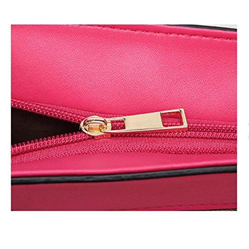 Nylon Leinwand Damen Freizeit Große Kapazität Wearable Atmungsaktiv Handtasche Einzelne Schulterbeutel Pink