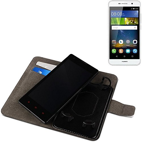 Für Huawei Y6Pro LTE Schutz Hülle Case Walletcase schwarz Handytasche mit Kreditkartenfächern und Standfunktion Bookstyle Klapphülle Etui Handy Case Schutzhülle für Huawei Y6Pro LTE - K-S-T