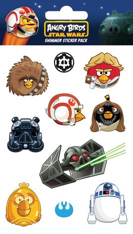 Angry Birds Star Wars Tiefighter, Shimmer Sticker Pack (53 stickers)