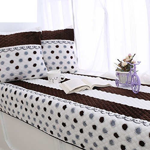 Se7ven elegante espesar flanella anti-que patina asciugamano di divano, chaorou felpa tappetino di finestra della baia di cuscini divano 90x240cm(35x94inch) a