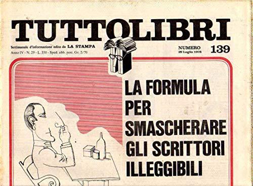 Tuttolibri n. 139 del Luglio 1978 Puzo, Marchesi, Truman Capote