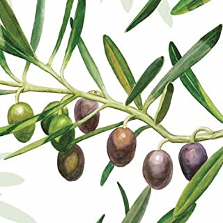 Ambiente Servietten Lunch / Party / ca. 33x33cm Ramoscello D'Ulivio White - Olive Branch - Ideal as Gift