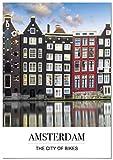Panorama® Poster Stadt von Amsterdam mit Phrase 50 x 70 cm