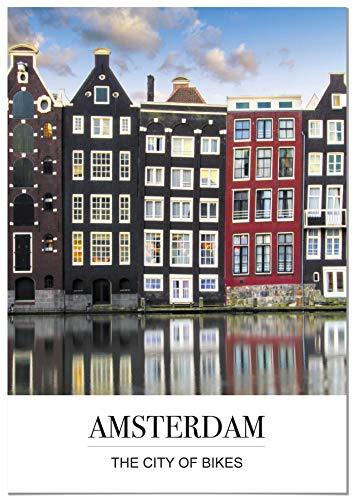 Panorama Póster Ciudad Amsterdam Mensaje 50 x 70