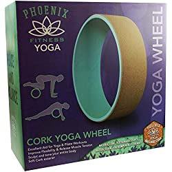 Phoenix Fitness Unisex Cork Yoga Wheel, Mint, 33 cm