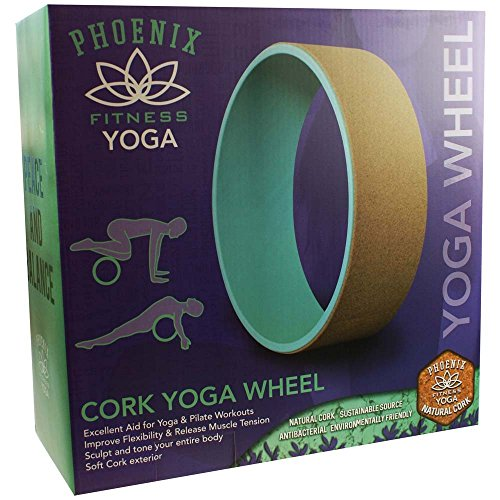 Phoenix Fitness Unisex Cork Yoga Rad, Minze, 33cm