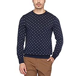 Indian Terrain Mens Round Neck Printed Pullover
