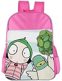 Kids Sarah & Duck School Backpack Cute Boys Girls School Bag Pink