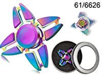 Crazy Gyro Spinner spinning in metallo Rainbow II, ca. 6 cm