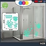 Aufkleber für docce-fantasia Blasen, Korallen und Fische Tropische Cod.1428–2(grün Wasser)