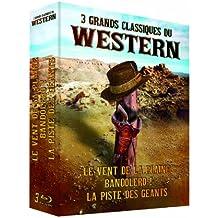 3 grands classiques du Western : Le vent de la plaine + Bandolero ! + La piste des géants