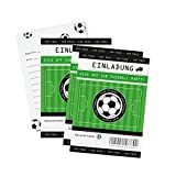 12 Fußball Einladungskarten zum Kindergeburtstag/Soccer/Football/Fussi/Geburtstagseinladungen/Einladungen/Geburtstag/Kinder/Jungen/Mädchen/Karten/Sets