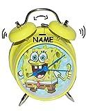 Die besten SpongeBob Wecker - Wecker Spongebob incl. Name - für Kinder Metall Bewertungen