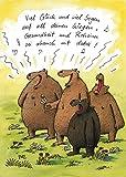 Postkarte A6 ++ 24113 ++ ''Glück & Segen'' von Inkognito ++ Künstler: Steffen Butz ++ Cartoons ++ Geburtstag