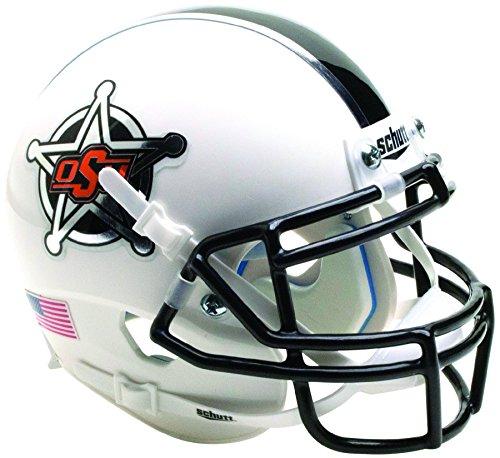 Schutt NCAA Okalahoma State Cowboys Mini Authentic XP Football Helmet, White Badge 2016 Alt. 14, Mini