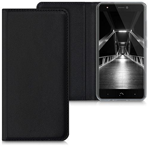 kwmobile bq Aquaris X/X Pro Hülle - Kunstleder Handy Schutzhülle - Flip Cover Case für bq Aquaris X/X Pro