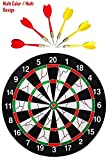 Tec Tavakkal® Double Faced Flock Printing Thickening Family Game Dart Board with 6