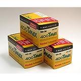 Kodak Tmax 400 Schwarzweißfilm (36Aufnahmen), 3 Stück